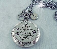 No longer by my side but forever in my Heart, Pet Memorial Locket w-Your Photo
