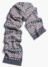 "NWT Men's Lucky Brand Wool Blend Diamond Knit Scarf.  72"" X 10"".  MSRP $49.00"