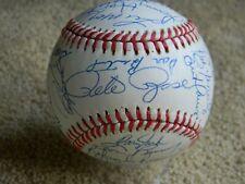 1989 Cincinnati Reds team AUTO /SIGNED baseball 32 BOLD, ROSE,LARKIN BEAUTIFUL!