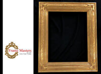"4"" Wide 18 "" x 14"" Solid Wood Hand Carved Picture Frame, Gilded in 22K Gold Leaf"