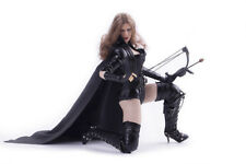 "1:6 Scale Black Female killer cloak Set For 12"" Female Seamless Action Figure"