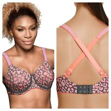 BERLEI Size 36B High Performance Prowl Pink Grey Print UnderWired SPORTS BRA £38