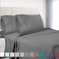 6 Piece Deep Pocket Bed Sheet Set 1800 Count Hotel Quality Bed Sheets sale BT