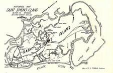 1929 Map of Saint Simons Island Glynn County