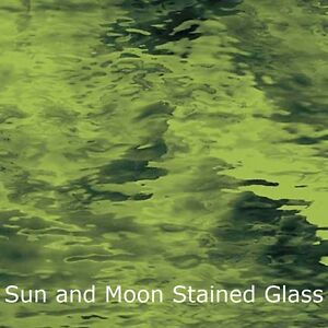 Green Stained Glass Sheets - Available in Variety Green Colors (8x10)
