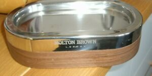 MOLTON BROWN CHROME & BROWN WALL MOUNT SOAP HOLDER /DISH