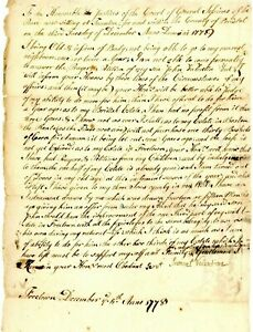 1778 Earl;y Am Doc> SAMUEL VALENTINES PLEA TO COURTS FOR SON JOHNS PLEA FOR HELP