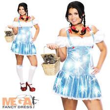 Sexy Dorothy XL UK 16 18 20 Ladies Fancy Dress Wizard of Oz Fairytale Costume