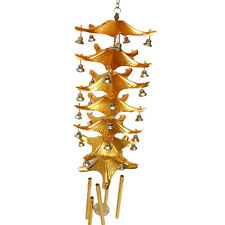 Chinese 7-Layer Roof Bell 5 Tubes Bell Feng Shui Hanging Charm Wind Chime