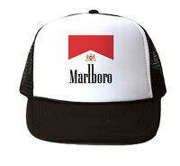 Marlboro Ciggs Mesh Trucker Hat Cap Snapback Adjustable Brand New-Black