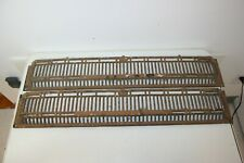 Vintage Original Pair Cast Iron Wall Floor Baseboard Heat Grate Old Home Vent