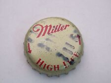 BEER Bottle Crown Cap ^^ MILLER Brewing Company High Life ~ Milwaukee, WISCONSIN