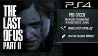 PS4 Last of Us Part 2 Pre-Order Bonus DLC | Extra Ammo & Crafting Manual