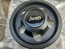 97-05 Jeep Wrangler WHEEL CENTER CAPS COVER W/JEEP LOGO BLACK SET OF 4 NEW MOPAR