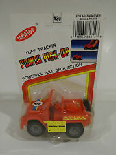 Vintage (1992) TAK -A- TOY  jeep CJ Tuff Trackin power pick-up pull back action