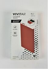 VIVITAR Thin 4400 MAH USB Power Pack Battery Charger Mobile Red B9