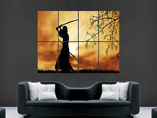WARRIOR SAMURAI SWORD SILHOUETTE   ART HUGE  LARGE PICTURE POSTER GIANT