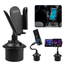 Universal Adjustable Gooseneck Cup Cradle Car Mount Holder For Cell Phone GPS
