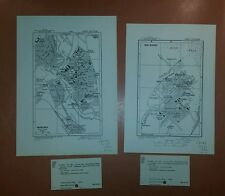 1942 US Army Maps Mascara, Bou Saada Algeria  ww 2 vintage military