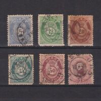 NORWAY 1877, Sc# 24-34, CV $125, part set, Used