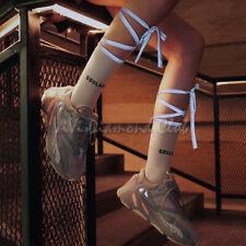 Fashion Women Fluorescent Leg Wrap Glow Reflective Straps Rave Cotton Crew Socks