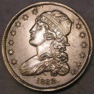 1833 CAPPED BUST SILVER QUARTER O OVER F SPECTACULAR SPECIMEN MUST C HUGE IMAGES