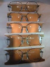 Vintage 5 pc. Sophia Loren M56 Burgundy/AntiqueGold 55/17 Eyeglass Frame Lot NOS
