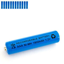 12 pcs AAA 3A 1800mAh 1.2V Ni-MH rechargeable battery Solar Light MP3 RC Blue