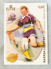 2001  BRISBANE BRONCOS  RUGBY LEAGUE ACCOLADE  CARD  A6  DARREN LOCKYER