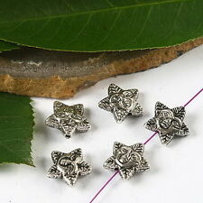 20pcs Tibetan silver face star spacer beads h2457