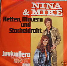 "7"" 70s RARE! NINA & MIKE Ketten Mauern und Stacheldraht"