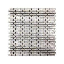 Mother of Pearl Mini Brick Oyster White Backsplash Mosaic Shell Tile W/Backing