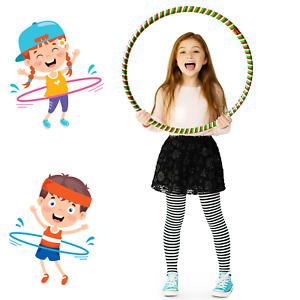 2xMulticolour Hula Hoop Children's Adult Fitness Activity Plastic Hoop Kids 55cm