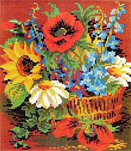 Mini Stecksystem Blumenkorb ca. 7.500 Teile mit XXL-Steckvorlage Nr. 41133