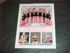 2012 Georgia Bulldogs Women's Tennis Program v Florida Gators South Carolina