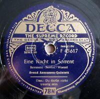 """Svend Asmussen - Eine Nacht im Sorrent - Du darfst... - DECCA - /10"""" 78 RPM"""