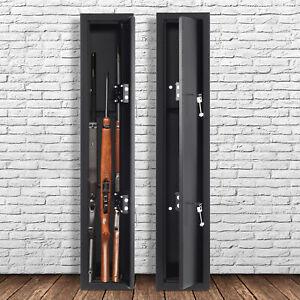 3/6 Gun Rifle Shotgun Metal Security Cabinet Safe Storage Case Rack 130cm