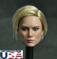 1/6 Captain Marvel Brie Larson Female Head Sculpt For PHICEN Hot Toys Figure USA