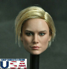 1/6 Captain Marvel Brie Larson Female Head Sculpt For PHICEN Hot Toys Figure USA
