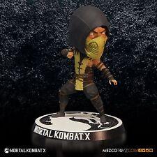 """New Sealed Arcadeblock - 6"""" Mortal Kombat X Scorpion Bobblehead Mezco Toyz"""