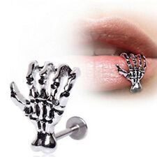 1Pc Skull Hand Bone Lip Pierce Nail Cartilage Ring For Women Men Body Jewelry