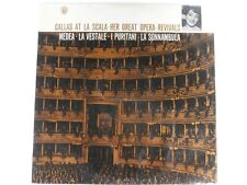 CALLAS AT LA SCALA, OPERA REVIVALS, MEDEA , LA VESTALE, I PURITANI ANGEL - LP