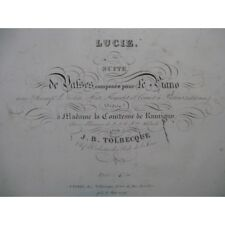 TOLBECQUE J. B. Lucie Piano ca1850 partition sheet music score
