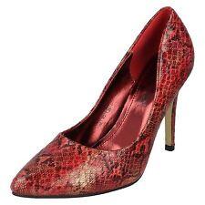 Anne Michelle F9R663 Ladies Burgundy Court Shoes (R13A)