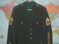 ARMY DRESS GREEN CLASS A  UNIFORM JACKET SARGENT MAJOR  43 REGULAR