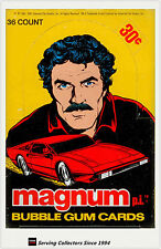 1983 Magnum P.I. Bubble Gum Trading Cards Wax Box (36 Packs) - Rare