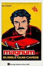 1983 Magnum P.I. Bubble Gum Trading Cards Wax Box (36 Packs) - Rare