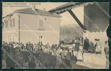 L'Aquila Cerchio Terremoto Stazione ABRASA cartolina XB3452