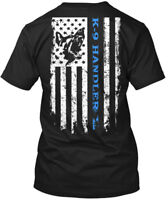K-9 Flag Police Dog Law Enforcement - Handler Hanes Tagless Tee T-Shirt