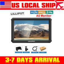 Lilliput A5 4K IPS Camera Field Monitor for Canon Nikon Sony DSLR Input Loop-out